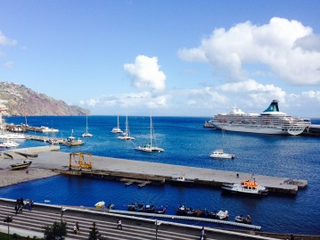 The main harbour of Funchal