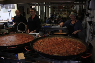 Paella restaurant at mercado de tapineria