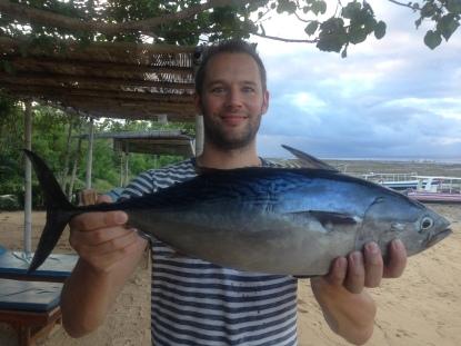 freshly caught tuna