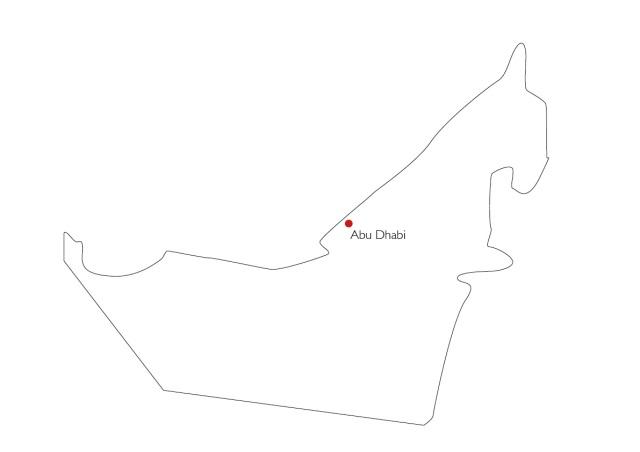 UAE Karte