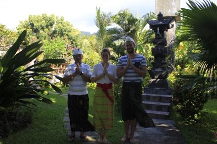 wearing sarongs