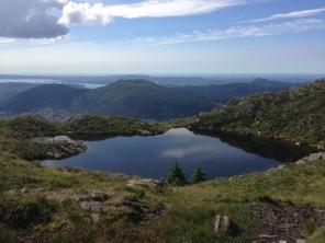 Beautiful lake on the way