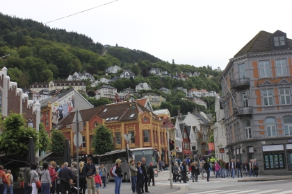 close to Bryggen and the market